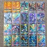 Rapoyo Carte Pokemon Carte collezionabili GX, Carte Pokemon 100 Pezzi Set di 20 Carte Pokemon GX, 59 Carte Ex, 20 Carte Mega e 1 Carta energia - Carte Pokemon Giochi di Carte Pokemon