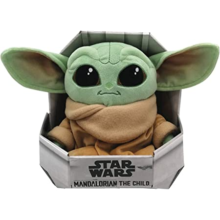 Simba Toys Peluches Disney - Peluche de Baby Yoda de la Serie The Mandalorian de Star Wars, para Niños de todas las edades - 25 cm