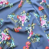 Se vende por metros como tela decorativa, grosor de la tinta de impresión de ramio de color flores de ramio 0,5 m