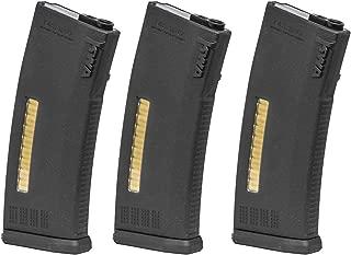 KWA MS120 M4 120 rd. AEG Mid Capacity Magazine (Black/3 Pack)