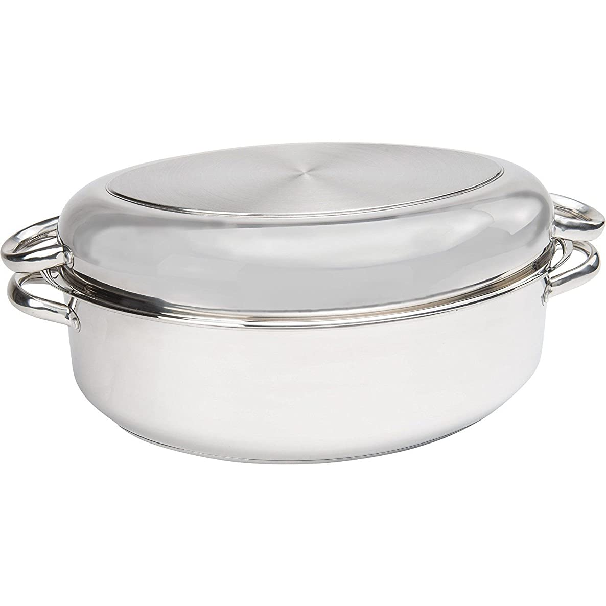 Precise-Heat Multi-Use Baking and Roasting Pan with Easy Lift Wire Rack, Stainless Steel gdum9675954954