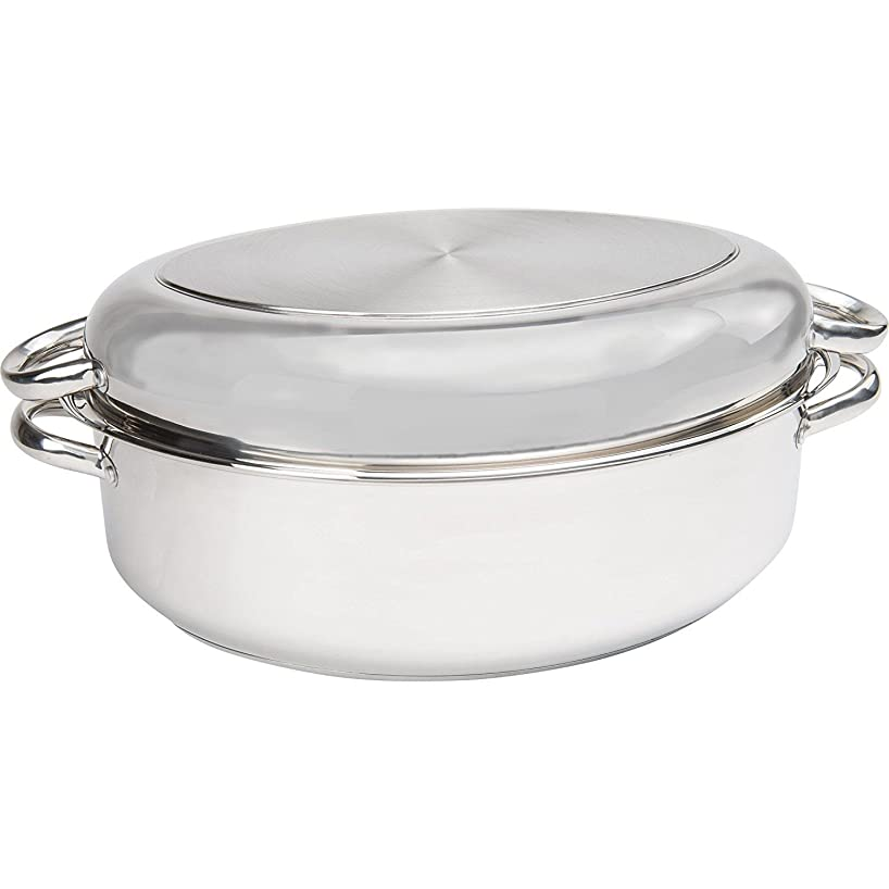 Precise-Heat Multi-Use Baking and Roasting Pan with Easy Lift Wire Rack, Stainless Steel