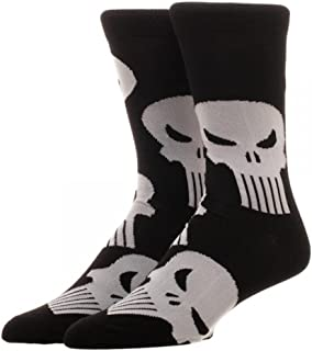 Marvel Punisher Large All over Print Crew Socks