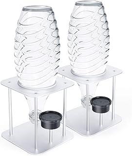 Jelly Comb Lot de 2 égouttoirs à bouteilles avec support en alliage d'aluminium pour SodaStream Crystal, carafes en verre,...