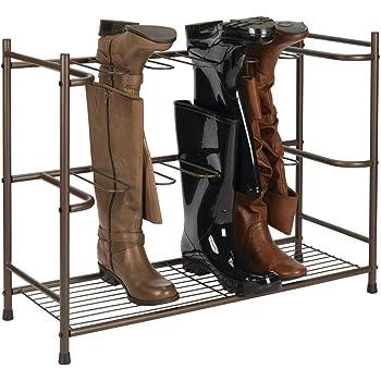 mDesign Zapatero para botas – Estante organizador de zapatos y botas altas – Mueble zapatero ahorrador de espacio