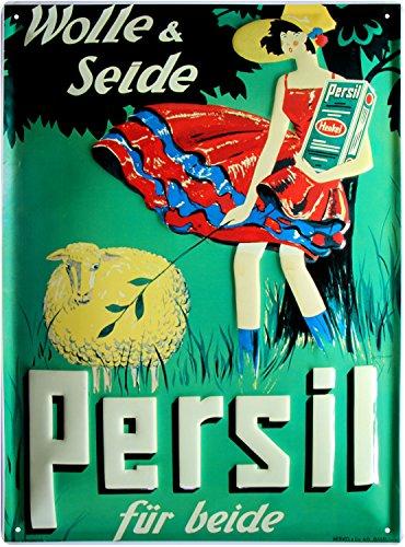 Persil Wolle und Seide geprägt Nostalgie Reklame Blechschild 30x40 Blech 3040M02