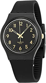 Swatch Classic Quartz Silicone Strap, Black, 16 Casual Watch (Model: GB274)