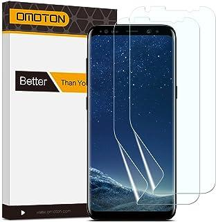 (2 Pack) OMOTON Galaxy S8 Protector de Pantalla,[ Cobertura Completa No Cristal