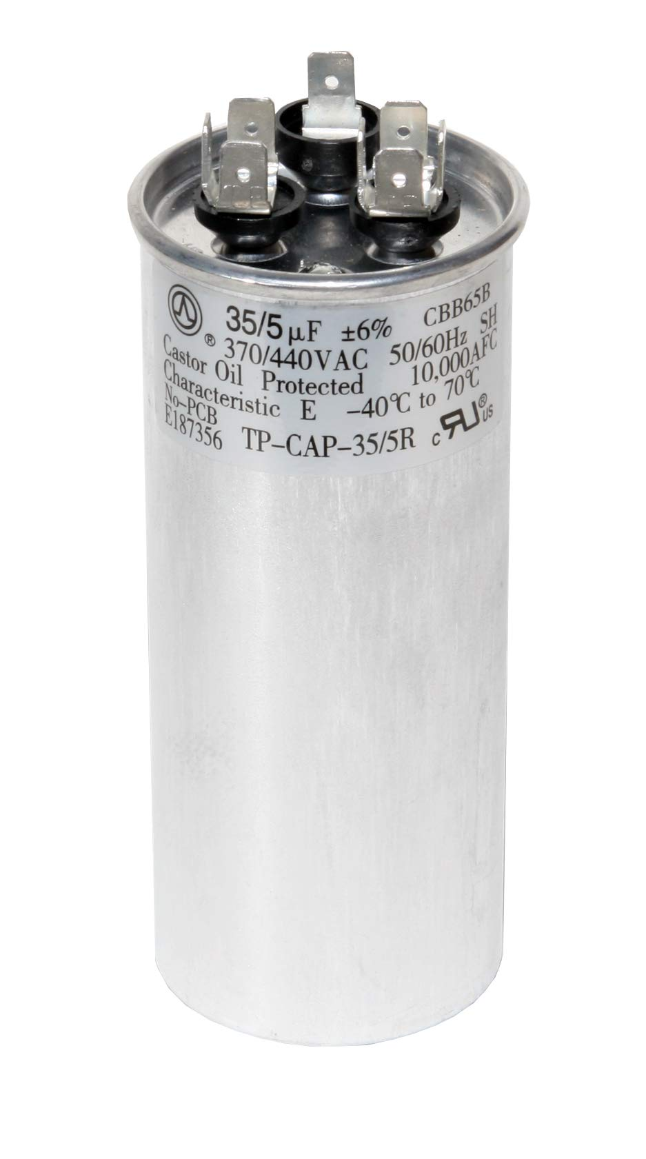 ac run capacitor replacement amazon compowerwell 35 5 uf mfd 370 or 440 volt dual run round capacitor kit tp