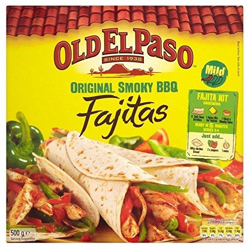 Old El Paso Fajitas Originale Kit Barbecue Fumoso (500g) (Confezione da 2)