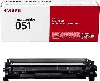 Canon Genuine Toner Cartridge 051 Black (2168C001), 1-Pack, for Canon imageCLASS MF264dw, MF267dw, MF269dw, LBP162dw Laser...