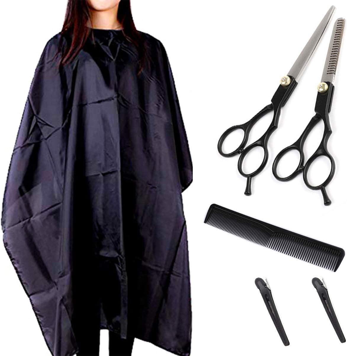 Max 72% OFF Barber Cape Hair Cutting Kits 6'' Scissors Hairdressing B free shipping
