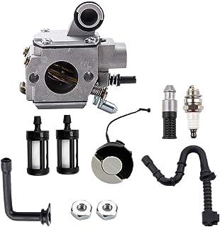 CUHAWUDBA Carburador HD-34A con Filtro de LíNea de Combustible Tapa de Gas para Motosierra MS361 MS361C MS341