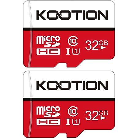 Kootion Micro SD Karte 32GB Speicherkarte MicroSDHC Class 10 Mini SD Karte UHS-I U1 A1 Memory Cards 2er Pack Speicher SD Karten 32G 2 Stück Micro SD Card Memory Karte für Kameras Handy Android Tablet
