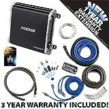 Kicker 43DXA1252 Car Audio 2 Channel Amp DXA125.2 & 8 GA Amplifier Accessory Kit - 3 Year Warranty!