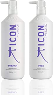 K I.C.O.N Drench Shampoo 33.8oz + Free Conditioner 33.8oz (Combo Set) by USA