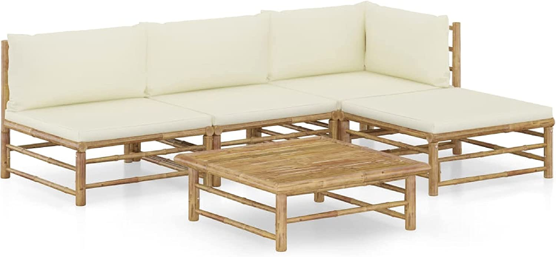 KA Company Outdoor Elegant Denver Mall Furniture Set Piece Garden wit 5 Lounge