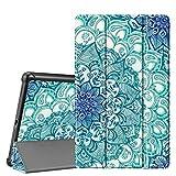 Fintie Hülle für Samsung Galaxy Tab A 10.1 T510/T515 2019 - Ultra Schlank Superleicht Kunstleder Schutzhülle Cover Hülle mit Standfunktion für Samsung Galaxy Tab A 10.1 Zoll 2019 Tablet, smaragdblau