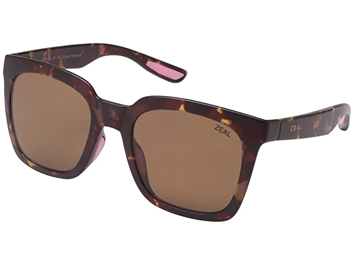 Zeal Optics  Cleo (Matte Tortoise/Polarized Copper Lens) Fashion Sunglasses
