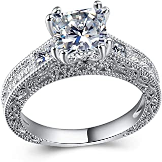 CHaRHODEN Zirconia Wedding and Engagement Ring for Women -9