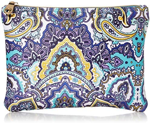 Seafolly Women s Printed Travel Bikini Bag with Zipper Carried Away Antigua Blue One Size product image