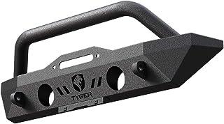 Tyger Auto TG-BP6J70078 Tyger Fury Short Stubby Front Bumper Kit w/Winch Plate D-Ring Mount Fits 2007-2018 Jeep Wrangler J...