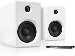 Innovative Technology Wireless Bookshelf Bluetooth Speaker with Rechargeable Battery, White