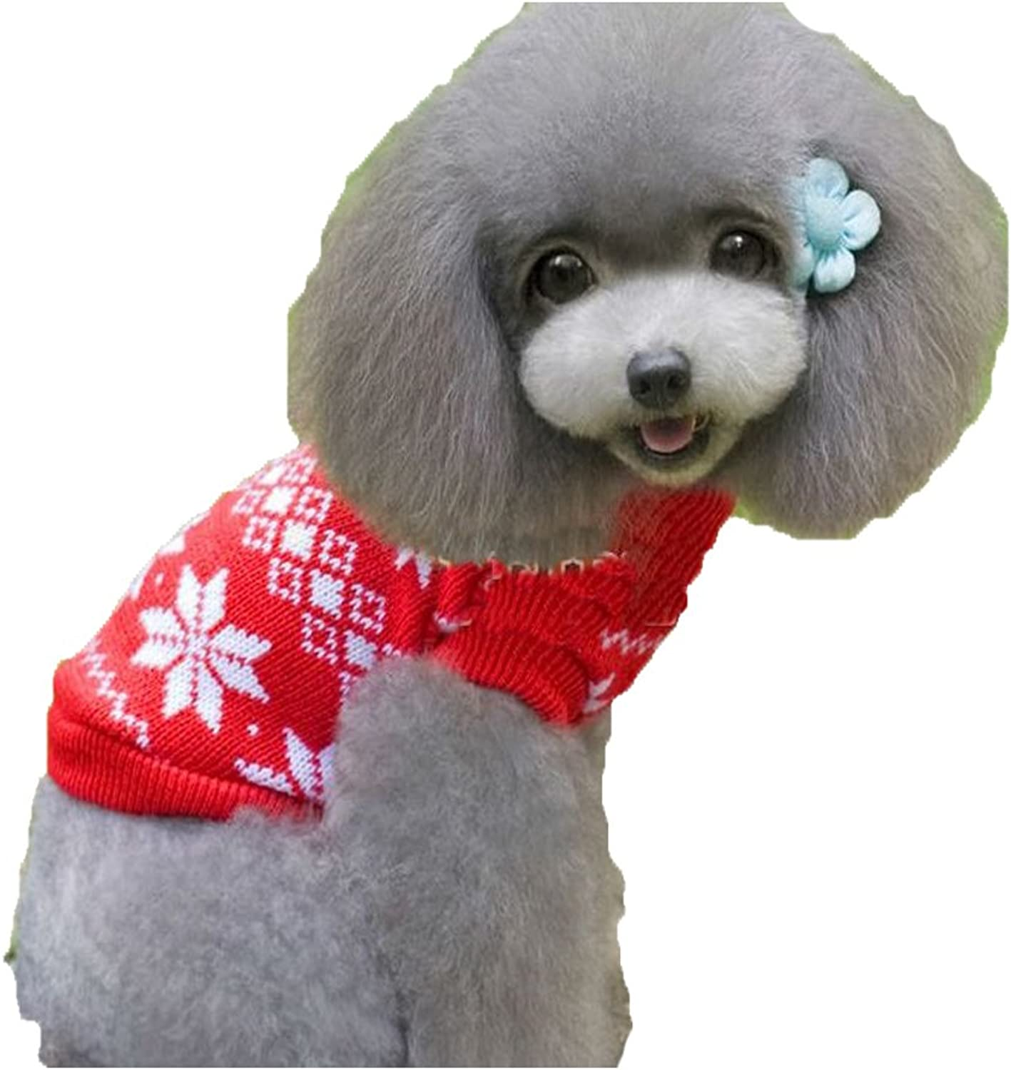 Pet Dog Ugly Christmas Sweater Red Holiday Winter Puppy Knitwear (S)