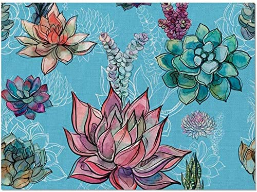 guizhoujiufu Kitchen Mat Dish Place Indianapolis Mall Tabl Pattern Flowers New Max 64% OFF