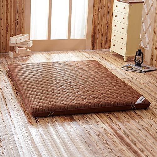 WZQ Hohe Qualität Massage Matratze Doppel Einzigen Schlafsaal Matratze Bambus Faser Leinen Tatami,Braun,90x200cm