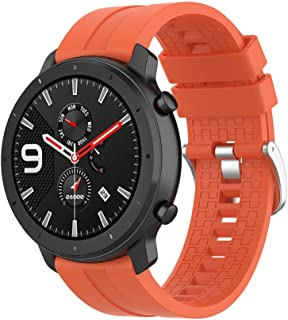Klaas Nic 22mm Silicone Band for Samsung Galaxy Watch 46mm/Gear S3 Classic/Frontier,Quick Release Strap for Amazfit GTR 47MM/Huawei GT/Fossil Q/Ticwatch E2/S2 22mm width Red