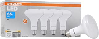 SYLVANIA LED BR30 Reflector Lamp, 8W (65W equivalent), Medium Base (E26/24), Soft White (2700 K), 650 Lumen, 4-pack