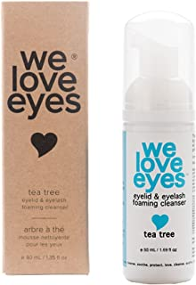 Vegan Tea Tree Eyelid Eyelash Foaming Cleanser - We Love Eyes – Mild, Non-Irritating Eyelid Hygiene, Wash Eyelashes, Improve Itching and Inflammation, Paraben & Sulfate Free -50 ml