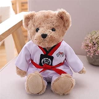 SXPC Creative Plush Toy Stuffed Animal Taekwondo Kung Fu Bear Doll Baby Soothing Doll Children Gift