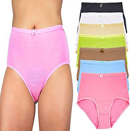 705bdda40c Capricia O dare Women s High Waist Tummy Control Briefs Panties (6 Pack or  12