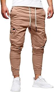 Pantalón Chandal Hombre Pantalones Deportivos Casual Multi-Bolsillo con Cordones Ajustado Fitness Gym Invierno Tallas Grandes Jogging de Hip-Hop Gusspower