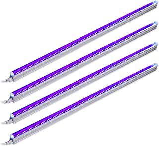 Barrina UV LED Blacklight Bar, 22W 4ft, T5 Integrated Bulb, Black Light Fixture for Blacklight Poster and Party, Fun Atmosphere with Built-in on,Off Switch (4-Pack)