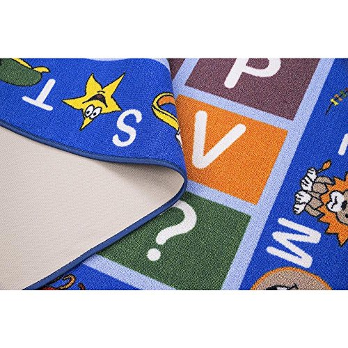 "Ottomanson Jenny Collection Kids' Non-slip Educational Alphabet Design Area Rug , 8'2"" X 9'10"", Multicolor"