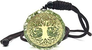 EDEN'S CALL Orgonite Crystal Stone Tree of Life Necklace for Men Women Adjustable Geometry Energy Stone Pendant Necklace