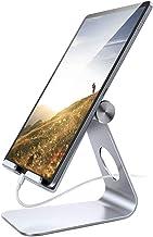 پایه Tablet قابل تنظیم، Lamicall پایه تلفن: پایه بلندگو Dock سازگار با تلفن Xs حداکثر XR، جدید iPad 2018 Pro 9.7، 10.5، Air Mini 2 3 4، Kindle، لوازم جانبی، Tab (4-13 اینچ) - نقره ای