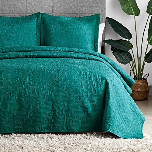 Hansleep Bettdecken-Set, leichte Bettdekoration, Bettdecke, Bettüberwurf, Tagesdecke für alle Jahreszeiten (Blaugrün, Twin)