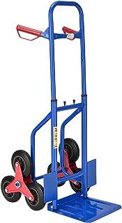 Juskys Treppensackkarre klappbar | 200 kg belastbar | Hartgummireifen | Kunststoff Griffe | Stahl Rahmen | Treppenkarre Treppensteiger Sackkarre