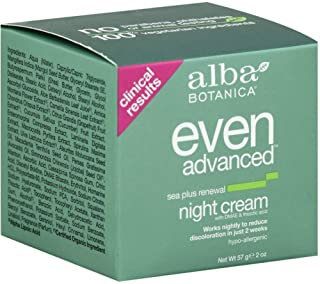 Alba Botanica Even Advanced Sea Plus Renewal Night Cream, 2 oz (Pack of 2)