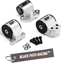 BlackPath - Fits Honda Motor Engine Mount Kit Acura + Integra B-Series B18 Engine (Polished) Solid T6 Billet