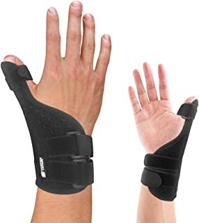 Copper Compression Long Thumb Brace - Guaranteed Highest Copper Thumb Spica Splint for Arthritis, Tendonitis. Fits Both Right Hand and Left Hand. Wrist, Hands, and Thumb Stabilizer and Immobilizer