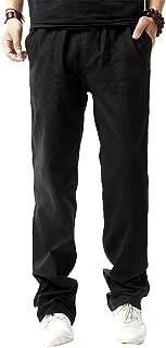 Men Casual Beach Trousers Linen Jean Jacket Summer Pants