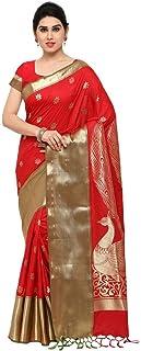 ساري من مزيج الحرير للنساء مع قطعة بلوزة
