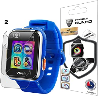IPG for VTech Kidizoom Smartwatch DX2 Watch Screen Protector (2 Units) Invisible Ultra HD Clear Film Anti Scratch Skin Guard - Smooth/Self-Healing/Bubble -Free