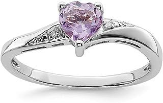 925 Sterling Silver Purple Quartz Diamond Band Ring S/love Gemstone Fine Jewelry For Women Gift Set
