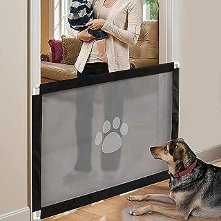 PETCUTE Barreras para Perros Extensible Barrera para Escalera Barrera Seguridad para niños Perros Retráctil